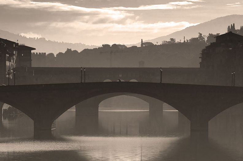 Three bridges in Florence